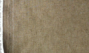 Brown denim fabric