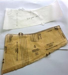 Back yoke - original pattern and new pattern