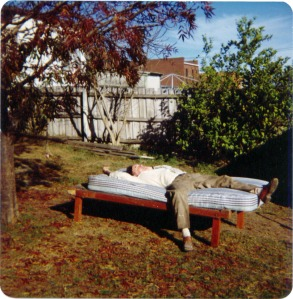 Exhibit C: Dad taking a rest - April 1976