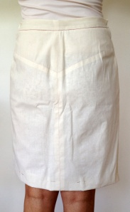 skirt toile - back view