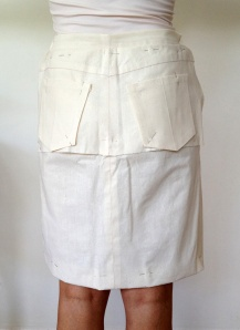 Adjusted toile with back pockets added