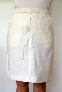skirt toile - front view