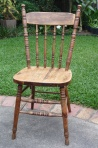 fully-restored chair