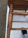 restored chair - detail of repaired leg