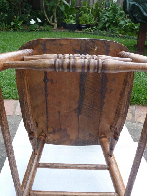 restored chair - underside of seat