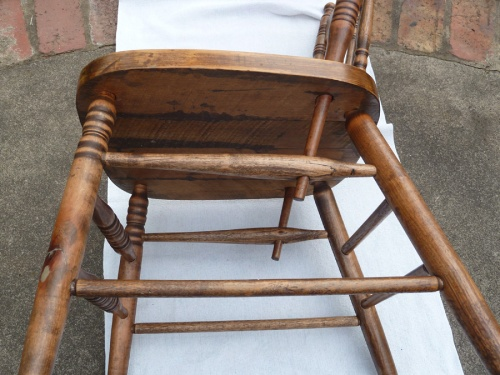 restored chair - underside