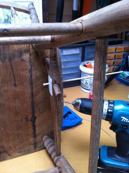 testing that dowel fits new hole
