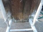 unrestored chair - underside of seat