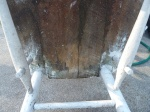 unrestored chair - underside of seat