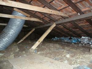 Roof framework strengthened