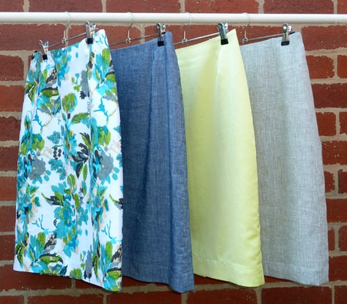 four skirts finished