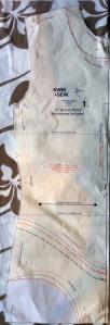 rash vest pattern - front bodice