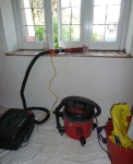 electric sander and vacuums