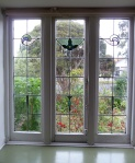leadlight window in main bedroom - original condition