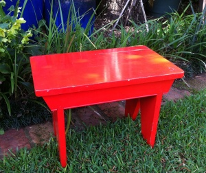 red stool in original condition