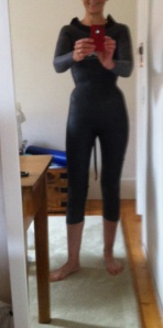 wearing new wetsuit