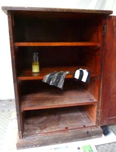 cupboard interior - partially clean