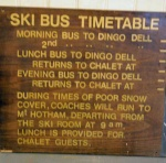 mt buffalo chalet auction - ski sign