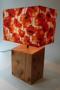 lamp completed - front view