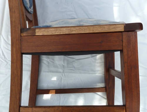side view of finished chair