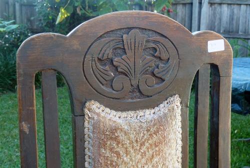 chair backrest detail - unrestored