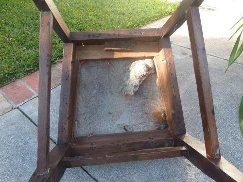 original chair - underside
