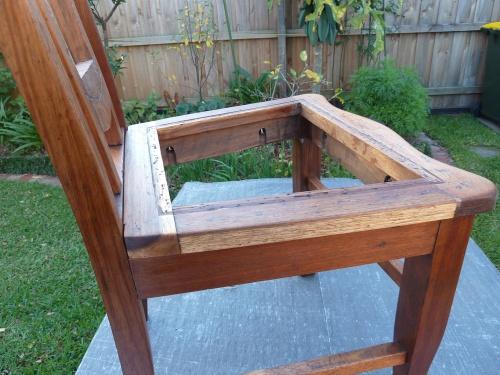 seat frame restored not upholstered