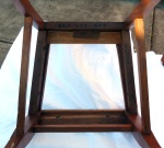 underside of restored chair not upholstered