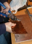 cutting the metal plate