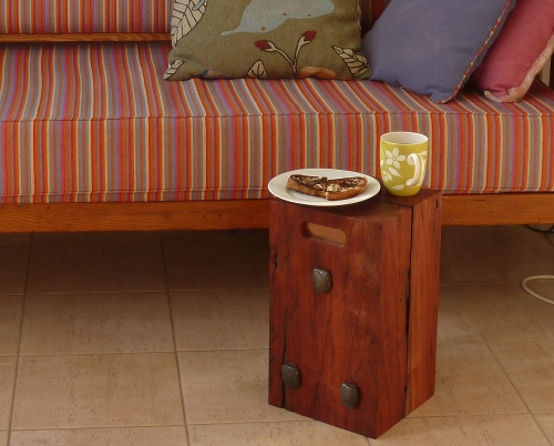 side table in action